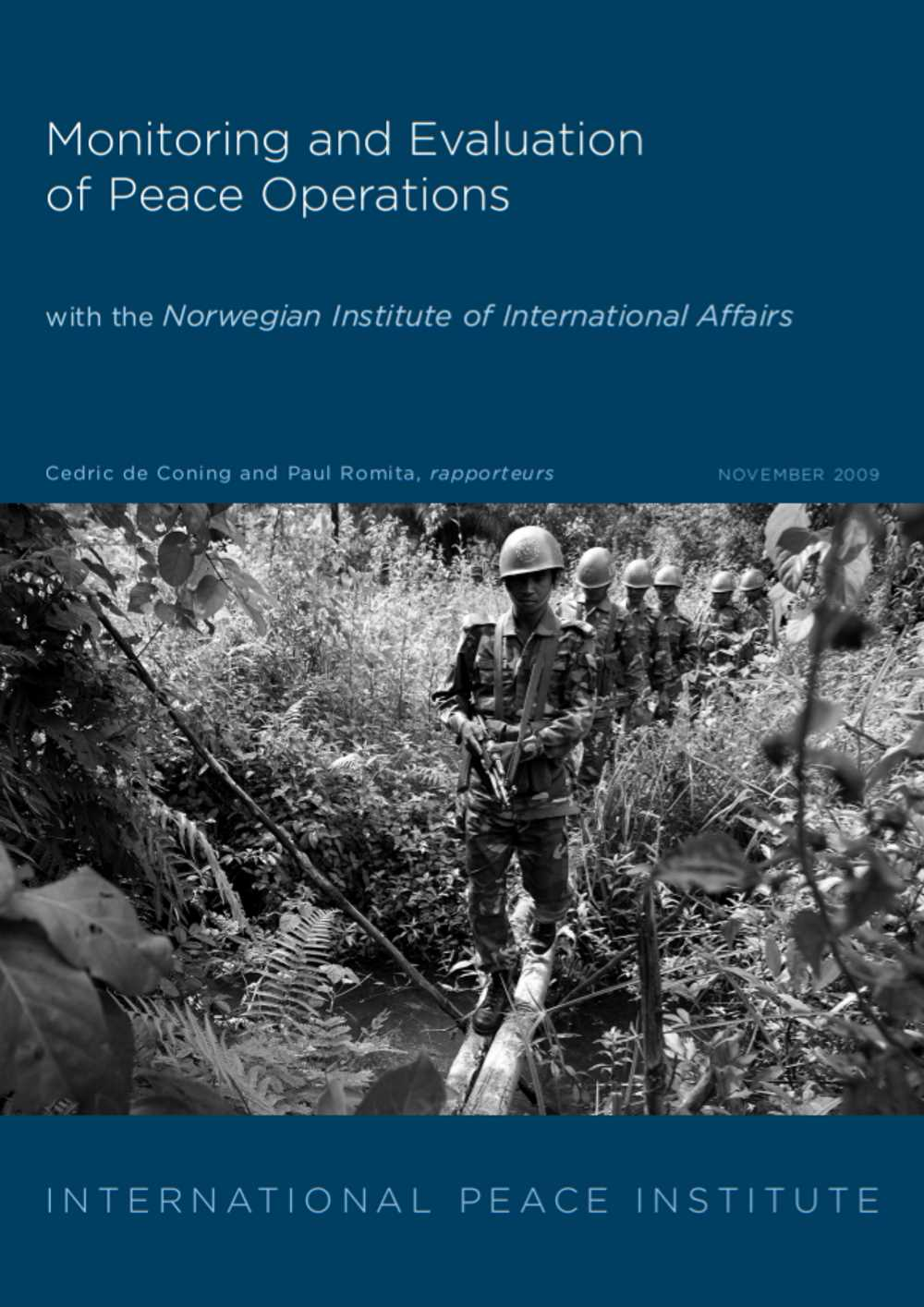 Monitoring Evaluation Peace Operations